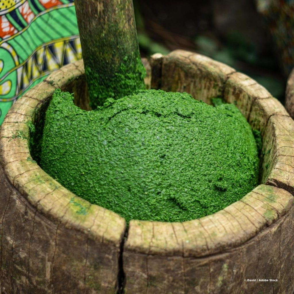 Isombe grünes Gemüse