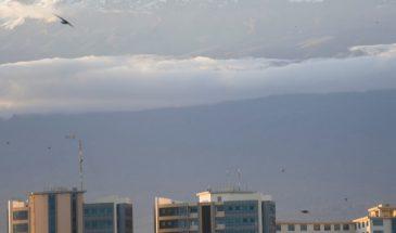 Blick von Moshi auf den Kilimanjaro