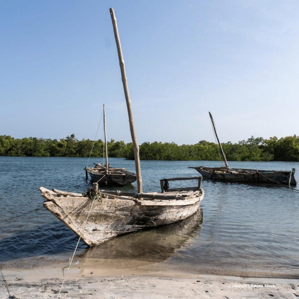Pangani Fluss mit Dhau