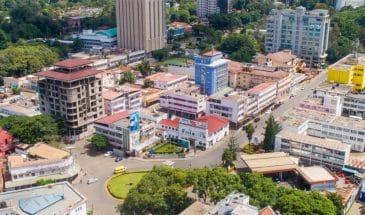 Arusha City Centre Vogelperspektive