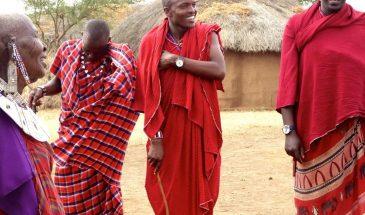 Masai Dorf Willkommensten