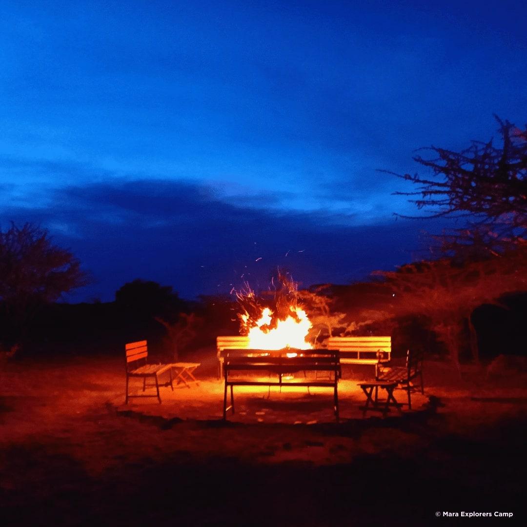 Masai Mara Lagerfeuer