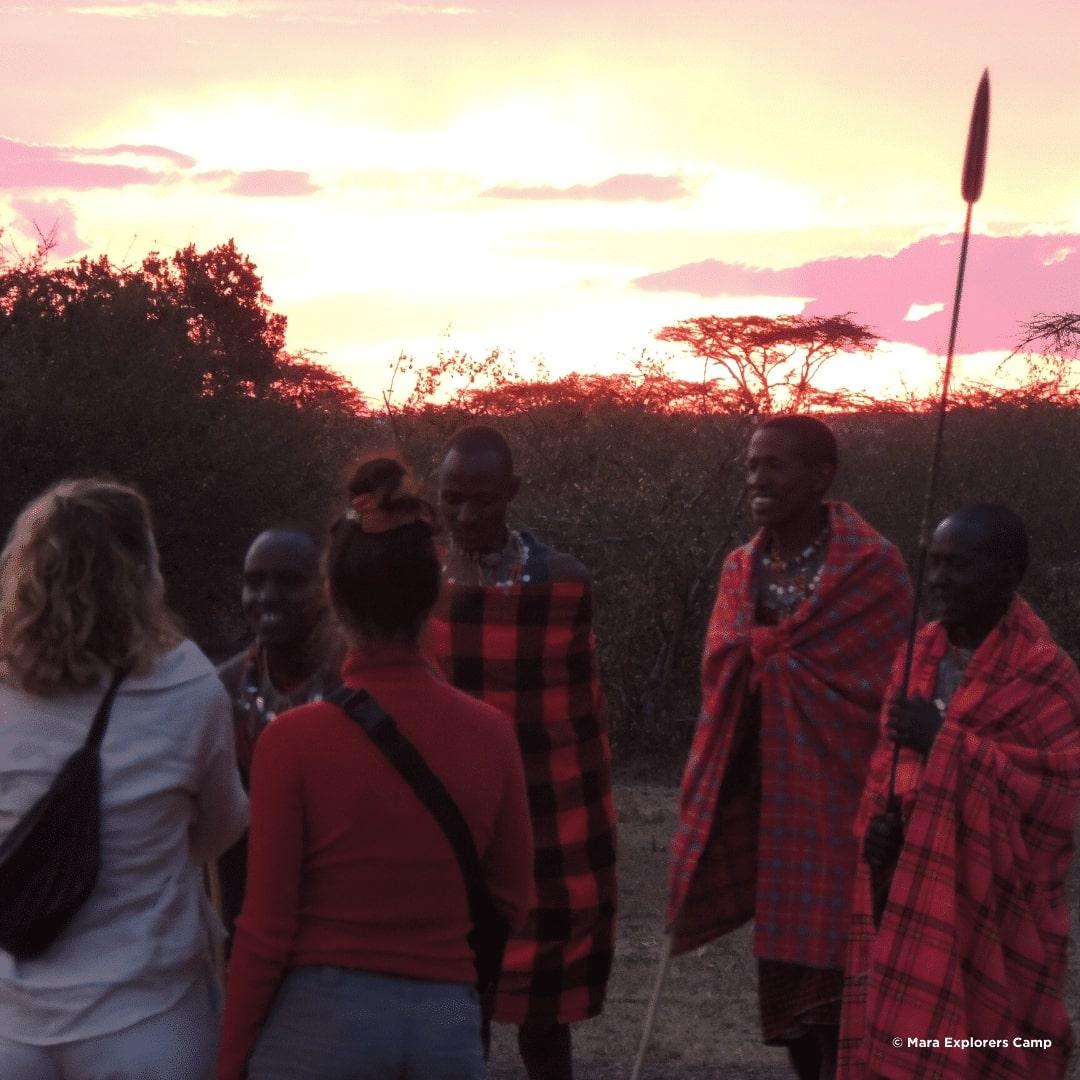 Massai Willkommenstanz