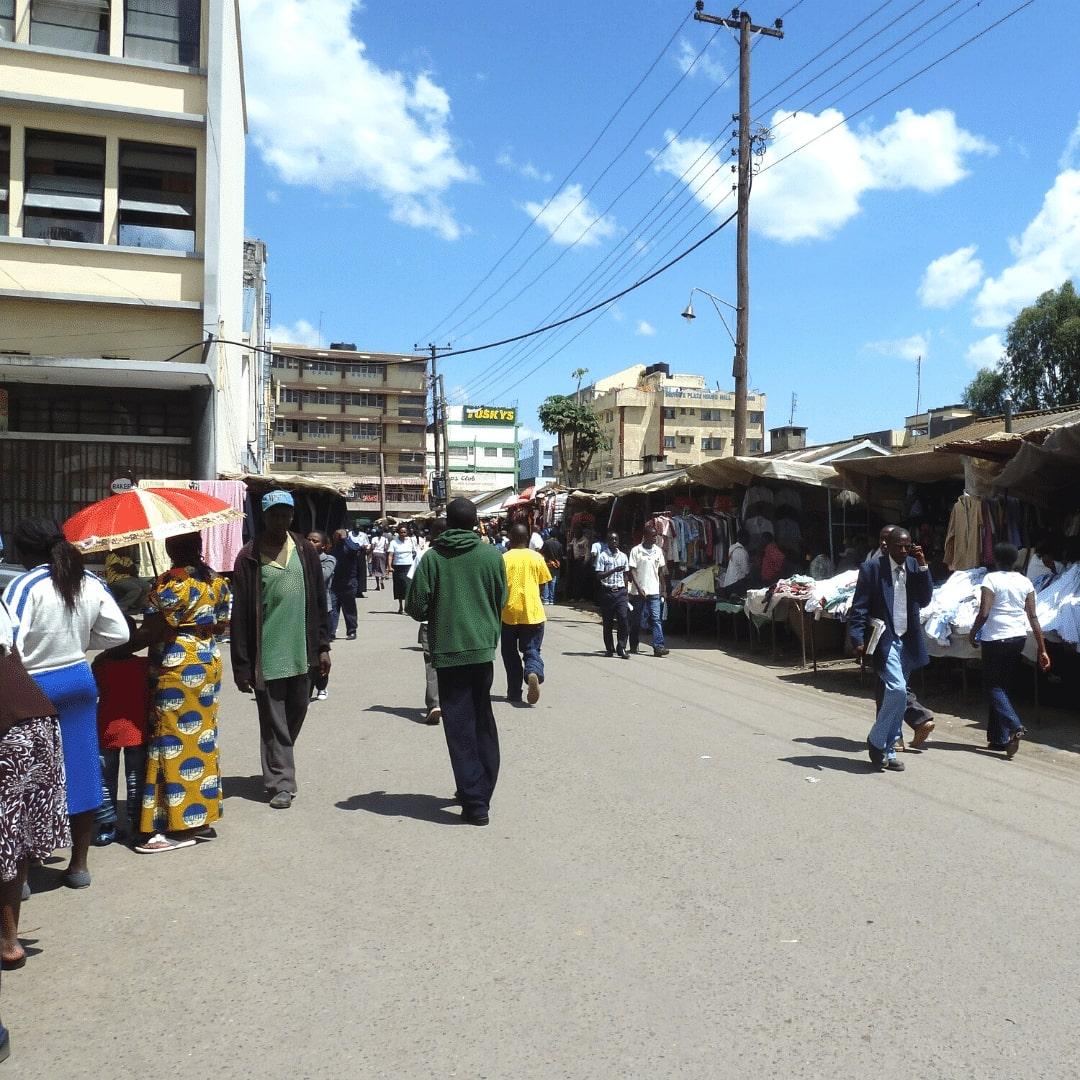 Nakuru Stadt Markt