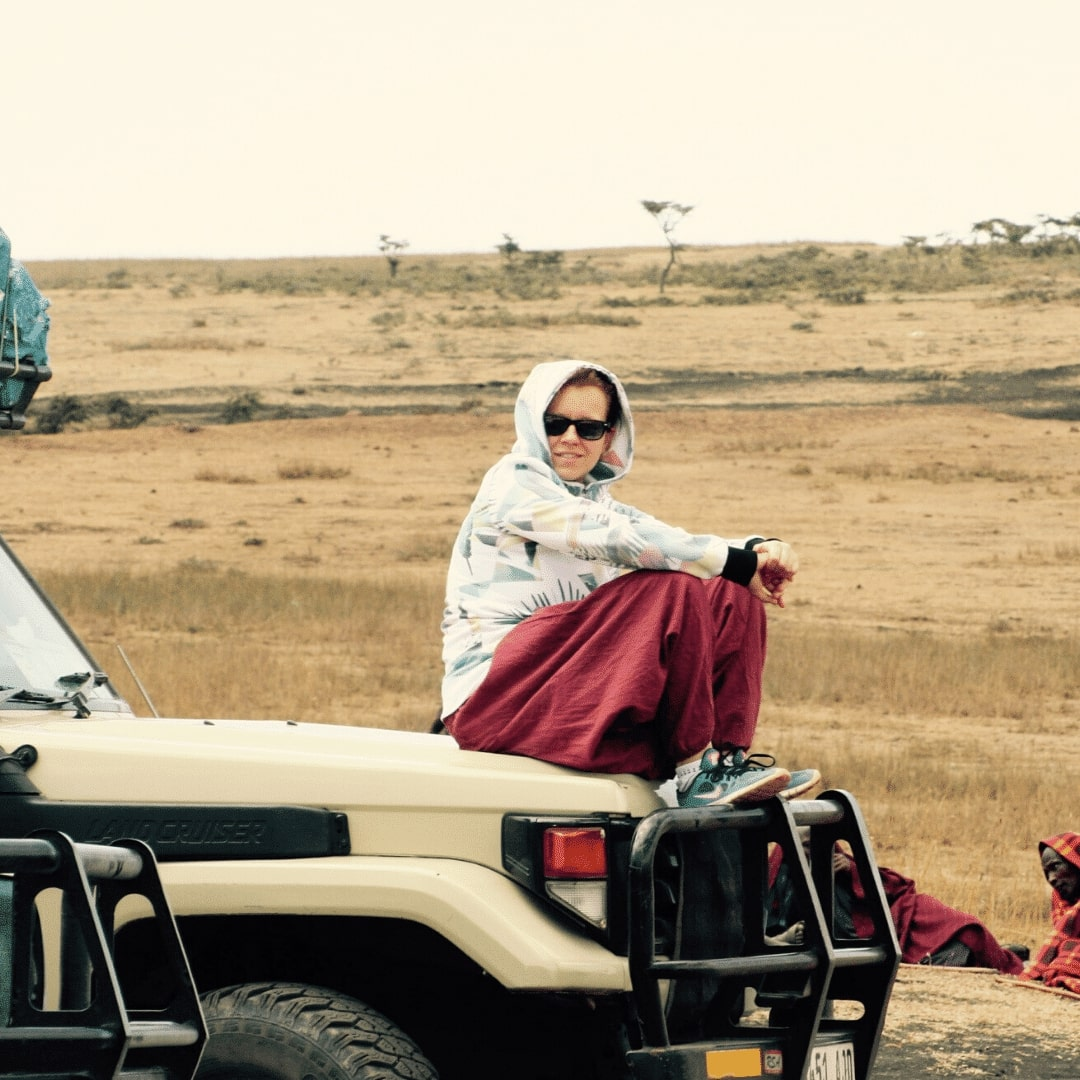 Stephanie auf Safari