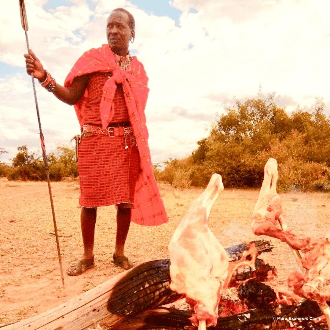 Traditionelles Massai BBQ