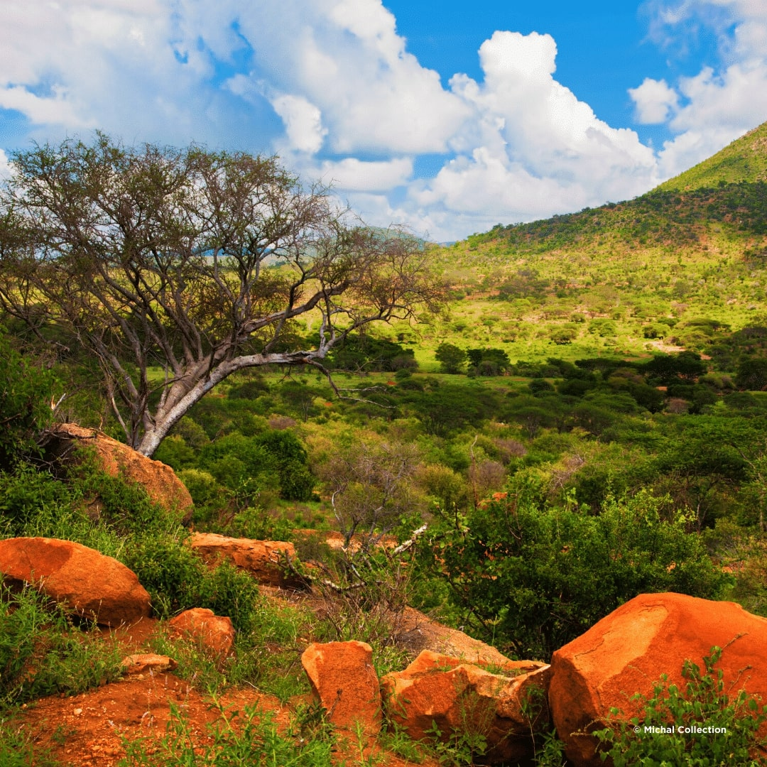 Tsavo West Berge
